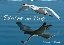 Schwäne im FlugCH-Version (Wandkalender 2021 DIN A2 quer) von T. Frank,  Roland