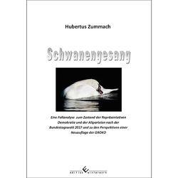 Schwanengesang von Zummach,  Hubertus