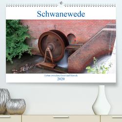 Schwanewede in den 4 Jahreszeiten (Premium, hochwertiger DIN A2 Wandkalender 2020, Kunstdruck in Hochglanz) von Jannusch,  Andreas