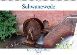 Schwanewede in den 4 Jahreszeiten (Wandkalender 2019 DIN A2 quer) von Jannusch,  Andreas