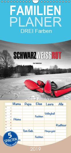 Schwarz – Weiß – Rot – Familienplaner hoch (Wandkalender 2019 , 21 cm x 45 cm, hoch) von Ratzer,  Reinhold