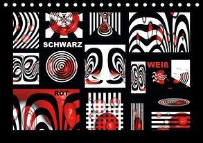 SCHWARZ, WEIß, ROT (Tischkalender 2018 DIN A5 quer) von Burlager,  Claudia