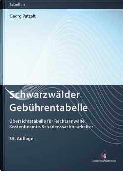 Schwarzwälder Gebührentabelle von Patzelt,  Georg