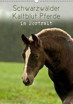 Schwarzwälder Kaltblut Pferde im Portrait (Wandkalender 2019 DIN A3 hoch) von Homberg,  Simone