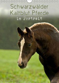 Schwarzwälder Kaltblut Pferde im Portrait (Wandkalender 2019 DIN A4 hoch) von Homberg,  Simone
