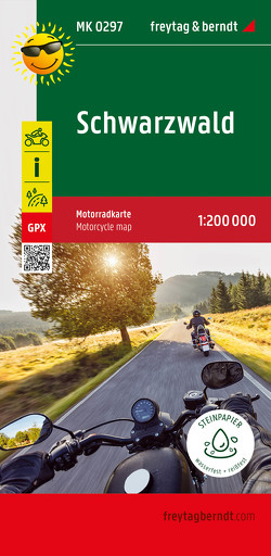 Schwarzwald, Motorradkarte 1:200.000, freytag & berndt