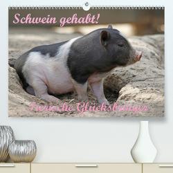 Schwein gehabt! (Premium, hochwertiger DIN A2 Wandkalender 2020, Kunstdruck in Hochglanz) von Lindert-Rottke,  Antje