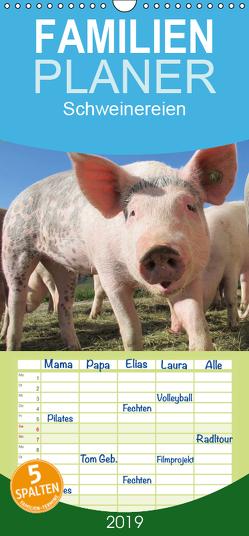 Schweinereien – Familienplaner hoch (Wandkalender 2019 , 21 cm x 45 cm, hoch) von Wolf,  Jan
