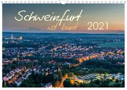 Schweinfurt ist bunt (Wandkalender 2021 DIN A4 quer) von Herm,  Olaf
