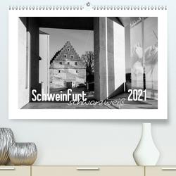 Schweinfurt schwarzweiß (Premium, hochwertiger DIN A2 Wandkalender 2021, Kunstdruck in Hochglanz) von Herm,  Olaf
