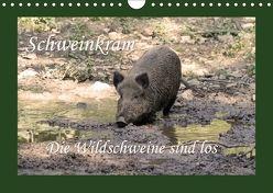 Schweinkram – Die Wildschweine sind los (Wandkalender 2018 DIN A4 quer) von Lindert-Rottke,  Antje