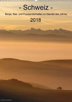 Schweiz – Berge, See- und Flusslandschaften im Wandel des Jahres (Wandkalender 2018 DIN A2 hoch) von Schaenzer,  Sandra
