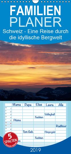 Schweiz – Eine Reise durch die idyllische Bergwelt – Familienplaner hoch (Wandkalender 2019 , 21 cm x 45 cm, hoch) von Schaenzer,  Sandra