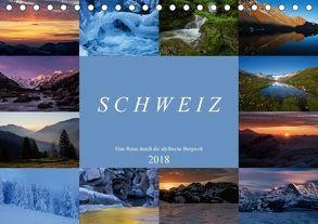 Schweiz – Eine Reise durch die idyllische Bergwelt (Tischkalender 2018 DIN A5 quer) von Schaenzer,  Sandra