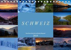 Schweiz – Eine Reise durch die idyllische Bergwelt (Tischkalender 2019 DIN A5 quer) von Schaenzer,  Sandra