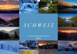 Schweiz – Eine Reise durch die idyllische Bergwelt (Wandkalender 2019 DIN A3 quer) von Schaenzer,  Sandra