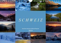 Schweiz – Eine Reise durch die idyllische Bergwelt (Wandkalender 2019 DIN A4 quer) von Schaenzer,  Sandra