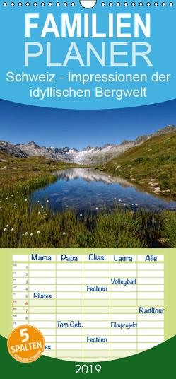 Schweiz – Impressionen der idyllischen Bergwelt im Laufe der Jahreszeiten – Familienplaner hoch (Wandkalender 2019 , 21 cm x 45 cm, hoch) von Schaenzer,  Sandra
