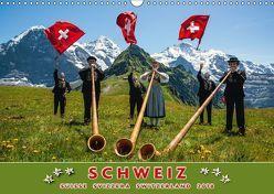 Schweiz Suisse Svizzera Switzerland 2018 (Wandkalender 2018 DIN A3 quer) von AG,  Calendaria
