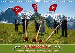 Schweiz Suisse Svizzera Switzerland 2018 (Wandkalender 2018 DIN A4 quer) von AG,  Calendaria
