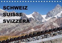 SCHWEIZ – SUISSE – SVIZZERA (Tischkalender 2021 DIN A5 quer) von sirflor.ch