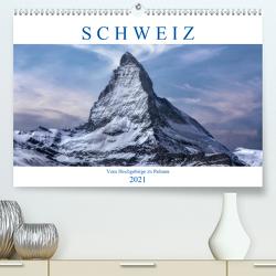 Schweiz – Vom Hochgebirge zu Palmen (Premium, hochwertiger DIN A2 Wandkalender 2021, Kunstdruck in Hochglanz) von Kruse,  Joana