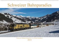Schweizer Bahnparadies 2019 (Wandkalender 2019 DIN A2 quer) von Schulthess,  Stefan