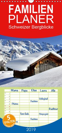Schweizer Bergblicke – Familienplaner hoch (Wandkalender 2019 , 21 cm x 45 cm, hoch) von André-Huber,  Franziska, swissmountainview.ch