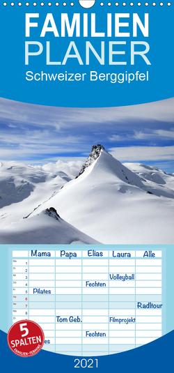Schweizer Berggipfel – Familienplaner hoch (Wandkalender 2021 , 21 cm x 45 cm, hoch) von Albicker,  Gerhard