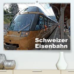 Schweizer Eisenbahn (Premium, hochwertiger DIN A2 Wandkalender 2020, Kunstdruck in Hochglanz) von J. Strutz,  Rudolf