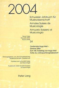 Schweizer Jahrbuch für Musikwissenschaft. Annales Suisses de Musicologie. Annuario Svizzero di Musicologia