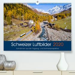 Schweizer Luftbilder (Premium, hochwertiger DIN A2 Wandkalender 2020, Kunstdruck in Hochglanz) von Meyer,  Tis