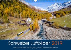 Schweizer Luftbilder (Wandkalender 2019 DIN A3 quer) von Meyer,  Tis