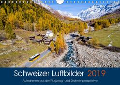 Schweizer Luftbilder (Wandkalender 2019 DIN A4 quer) von Meyer,  Tis