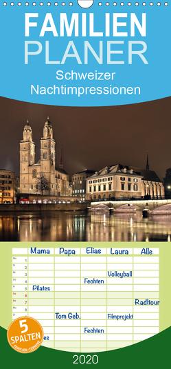 Schweizer Nachtimpressionen – Familienplaner hoch (Wandkalender 2020 , 21 cm x 45 cm, hoch) von Kling,  Jens