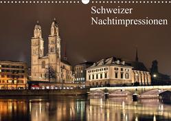 Schweizer Nachtimpressionen (Wandkalender 2021 DIN A3 quer) von Kling,  Jens