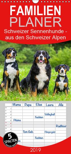 Schweizer Sennenhunde – aus den Schweizer Alpen – Familienplaner hoch (Wandkalender 2019 , 21 cm x 45 cm, hoch) von Starick,  Sigrid