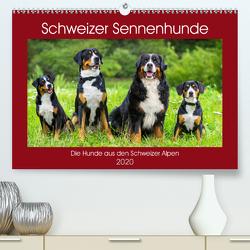 Schweizer Sennenhunde – die Hunde aus den Schweizer Alpen (Premium, hochwertiger DIN A2 Wandkalender 2020, Kunstdruck in Hochglanz) von Starick,  Sigrid