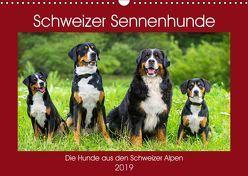 Schweizer Sennenhunde – die Hunde aus den Schweizer Alpen (Wandkalender 2019 DIN A3 quer) von Starick,  Sigrid
