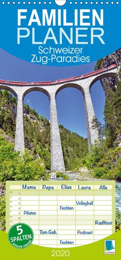 Schweizer Zug-Paradies – Familienplaner hoch (Wandkalender 2020 , 21 cm x 45 cm, hoch) von CALVENDO