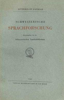 Schweizerische Sprachforschung