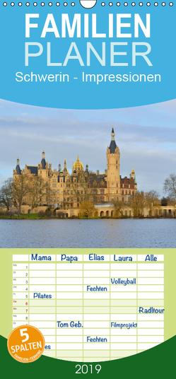 Schwerin – Impressionen – Familienplaner hoch (Wandkalender 2019 , 21 cm x 45 cm, hoch) von Roick,  Reinalde