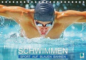 Schwimmen: Sport auf blauen Bahnen (Tischkalender 2018 DIN A5 quer) von CALVENDO,  k.A.