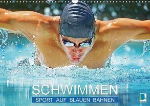 Schwimmen: Sport auf blauen Bahnen (Wandkalender 2018 DIN A3 quer) von CALVENDO,  k.A.