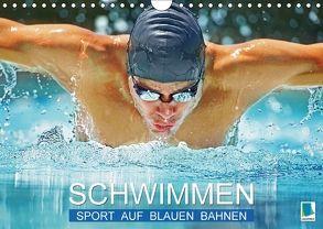 Schwimmen: Sport auf blauen Bahnen (Wandkalender 2018 DIN A4 quer) von CALVENDO,  k.A.
