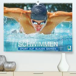 Schwimmen: Sport auf blauen Bahnen (Premium, hochwertiger DIN A2 Wandkalender 2020, Kunstdruck in Hochglanz) von CALVENDO