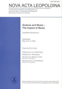Science and Music – The Impact of Music von Auhagen,  Wolfgang, Ruf,  Wolfgang, Smilansky,  Uzy, Weidenmüller,  Hans
