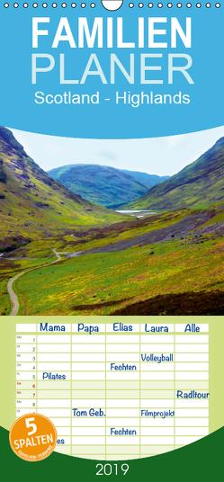 Scotland – Highlands – Familienplaner hoch (Wandkalender 2019 , 21 cm x 45 cm, hoch) von Wernicke-Marfo,  Gabriela