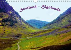 Scotland – Highlands (Wandkalender 2019 DIN A4 quer) von Wernicke-Marfo,  Gabriela
