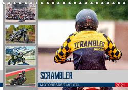 Scrambler Motorräder mit Stil (Tischkalender 2021 DIN A5 quer) von Franko,  Peter